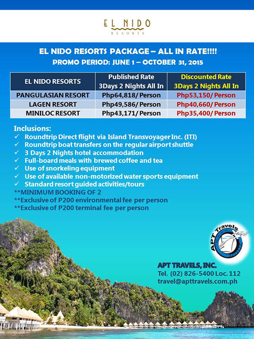 EL NIDO Resorts Package