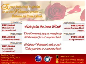 2017 Valentines Promo - PERRYS GROUP